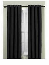Union Square 84-Inch Grommet Top Window Curtain Panel in Black