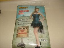 Sexy Showgirl Burlesque Saloon Western Can Can WomenS Halloween Costume SZ SMALL