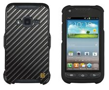 Fit Galaxy Rugby Pro i547 Protector Snap On Phone Clip Case Carbon Fiber Image