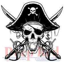 Deep Red Stamps Beware of Pirates Rubber Cling Stamp