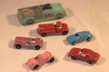 Vintage Tootsie Toy Car Lot Fire Truck 6 Pieces