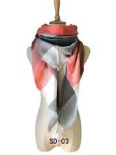 Womens Lady Winter Warm Tartan Check Neck Shawl Triangle Scarf Wrap Stole Plaid