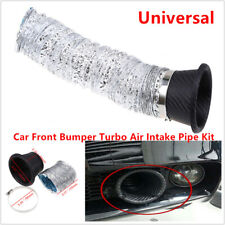 Universal Car Front Bumper Turbo Air Flowing Intake Pipe Turbine Air Funnel Kit