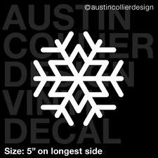 "5"" SNOWFLAKE vinyl decal car truck window laptop sticker - winter frozen"