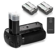 Battery Grip For Nikon D90 D80 SLR Camera + 2 x EN-EL3E Battery + IR Remote
