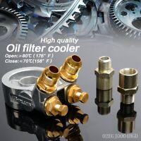 GPLUS AN10 Oil Filter Cooler Sandwich Thread Plate Adapter + 80 deg Thermostat