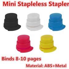 Office Home Staple Free Stapleless Stapler Paper Binding Binder Paperclip LF7Q