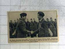 1940 Flying Officer Gravely Decorated With Empire Gallantry Medal