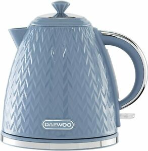 Daewoo Argyle Patterned 1.7L Kettle Washable Limescale Filter Auto Switch Blue