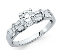1.75 Ct Diamond 14k Solid White Gold Engagement/Wedding Ring Solitaire Band