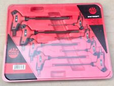 Mac Tools SHKTM8PT 8PC Bi-Material Metric T-Handle Ball End Hex Key Set New