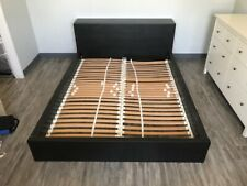 ikea queen bed frame with hide away shoe drawers
