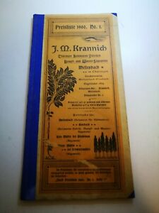 Antique 1900 Germany Wood Products Factory Sales Catalog Brochure Krannisch