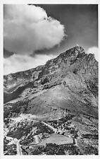 RPPC TABLE MOUNTAIN & KLOOF NEK FROM LIONS HEAD SOUTH AFRICA REAL PHOTO POSTCARD