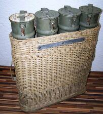 alte Transporttasche für Geschosse Patronen Granaten, 4er Hülle