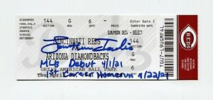 Jonathan India Signed Auto 1st Home Run Ticket 4/22/2021 JSA COA HOLO + Debut In