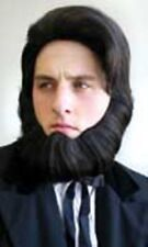 ADULT MENS ABRAHAM LINCOLN COSTUME MALE WIG AND BEARD BLACK PRESIDENT CIVIL WAR