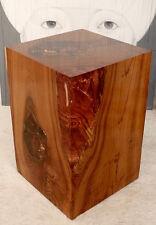 Hocker Holz Teak Wurzel m. Kunstharz Resin, Podest, Säule, Beistelltisch, Quader