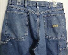 Wrangler Work Painter Carpenter Hero Authentic Denim Blue Jeans 100% Cotton EUC
