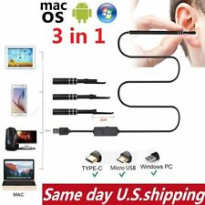 USB Ear Cleaning Endoscope Borescope Inspection Camera For mac OS Android Win 10