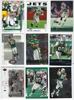 (78)ct WAYNE CHREBET NFL FOOTBALL CARD LOT NEW YORK JETS/HOFSTRA!