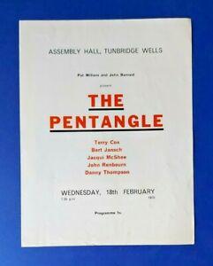 The Pentangle at Tunbridge Wells (1970) Programme.