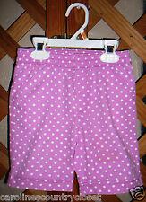OKIE DOKIE SHORTS~Rose Pink Polka Dots~Elastic Waist~Pockets~Girls 6Y~FREE SHIP