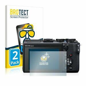 Canon EOS M6 Mark II Mirrorless, 2 x BROTECT® Matte Screen Protector, anti-glare