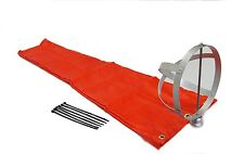 "Airport Windsock Corporation 8""X36"" Orange Windsock & 8"" Aluminum Frame"
