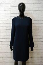 TOMMY HILFIGER Donna L Vestito Casacca Blu Abito Tubino Maglia Lunga Dress Women