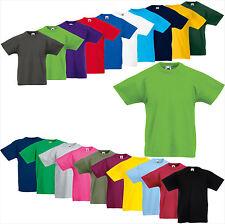 FRUIT OF THE LOOM Kids Original Tee Shirt 104 116 128 140 152 164 Kinder (A) FOL