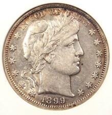 1899-S Barber Half Dollar 50C - ANACS XF45 - Rare Date - Certified Coin!