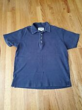 Abercrombie Mens Size Large Navy Short Sleeve Polo