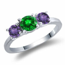 Emerald Simulated Sterling Silver Fine Jewellery