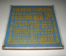 "San Diego Chargers Wood Wall Plaque 11"" x 11"" Memorabilia Football"