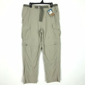 Columbia Titanium Convertible Pants Men's Size Large Tan Omni-Dry STAINED