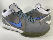 Nike Zoom Kobe 4 IV MPLS University Blue Grey White Mens Size 11 Rare 344335-041