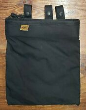 CSM roll up style drop dump pouch belt mount black double lined formed opening