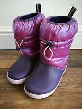 Girls Crocs winter snow boots c13 purple uk 13