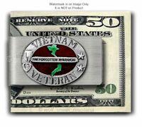 VIETNAM VETERAN STAINLESS STEEL MONEY CLIP -  MILITARY VET GIFT - FREE SHIP  #E'