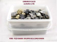 CARBURO DI CALCIO IN PEZZI LAMPADE E REPELLENTE PER TALPE SECCHIELLO 3,5 kg
