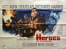 The Heroes Of Telemark Original Quad Poster 1965 Kirk Douglas Richard Harris