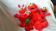 Sesame Street Elmo Lot of 4 Plush Stuffed Animal Bunny, Scarf Elmo's Easter