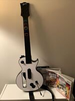 Nintendo Wii Guitar Hero Gibson Les Paul Guitar Controller + 2 Games Lot Tested!