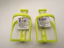 PAIR CATEYE VINTAGE WATER BOTTLE CAGES BC-100 JAPAN YELLOW