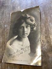 Vintage Postcard Phyllis Dare English Singer Actress Edwardian Comedy RPPC Photo