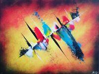 Tableau abstrait contemporain 30 x 40 cm. Œuvre originale de Audrey Granjeaud.