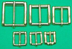 "Belt Buckle ""Solid Brass Roller + Pin"" Fit 13mm, 16mm, 20mm, 26mm, 32mm, 38mm."