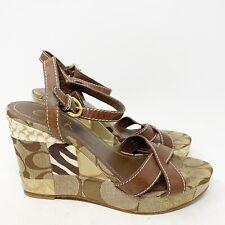 Coach Womens Platform Wedge Sandals Size 7.5