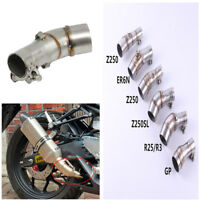 Z250SL Motorcycle Exhaust Middle Pipe Stainless Steel Muffler Link Connect Pipe